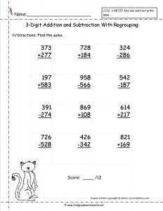 Free Printable Addition and Subtraction Worksheets