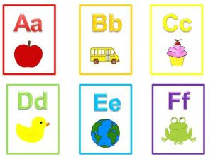 Free Printable Alphabet Flash Cards without Pictures
