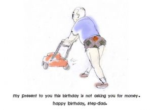 Funny Step Dad Birthday Cards