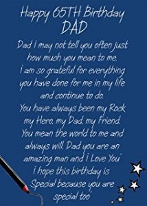 Happy 65th Birthday Dad Card