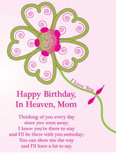 Happy Birthday Cards for Mom in Heaven