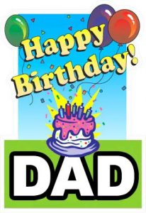 Happy Birthday Dad Cards Printable
