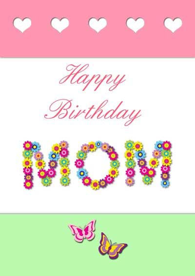 photograph relating to Birthday Cards for Mom From Daughter Printable named 38 Attractive Birthday Playing cards For Mother