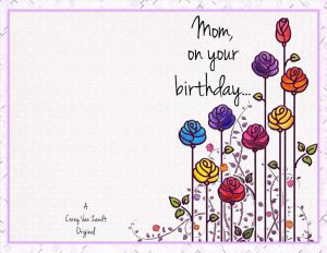 Happy Birthday Mom Free Printable Cards