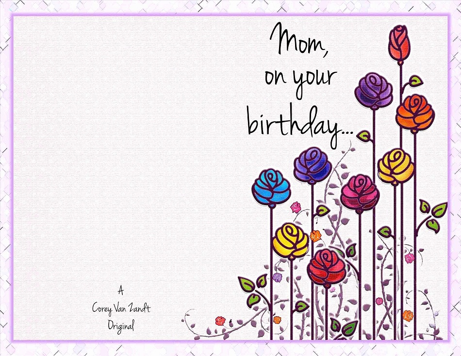 image relating to Printable Birthday Cards for Mom identify 38 Interesting Birthday Playing cards For Mother