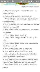 How the Grinch Stole Christmas Trivia
