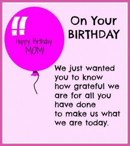 Mom Birthday Card Quotes