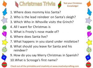 Printable Christmas Trivia Questions