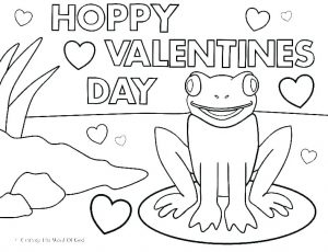 Printable Coloring Cards for Valentine's Day