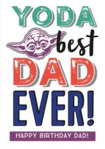 Star Wars Dad Birthday Card Wishes