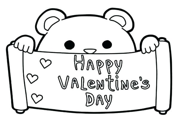 11 Cute Printable Valentine S Day Cards To Color Kittybabylove Com