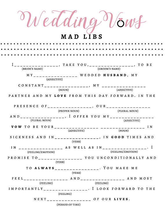 Exceptional image with regard to bridal shower mad libs printable