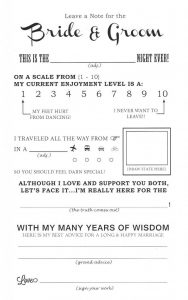 Wedding Mad Libs Free Downloadable