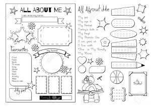 3rd Grade All About Me Activity Worksheet