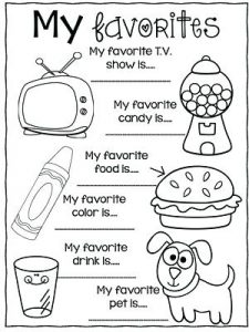 All About Me Coloring Pages Worksheet