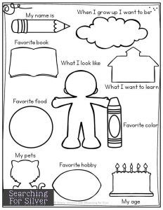 All About Me Preschool Theme Worksheet