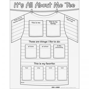All About Me T-shirt Worksheet