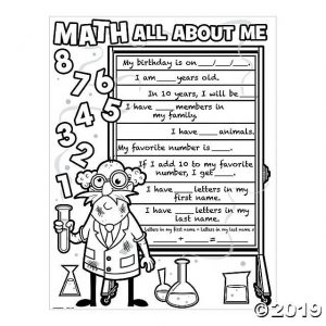All About Me Worksheet 5th Grade