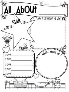 All About Me Worksheet For Toddler