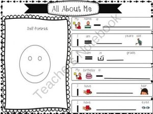 All About Me Worksheets Special Needs