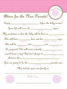 Baby Shower Mad Libs Free