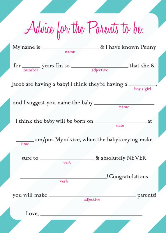 image relating to Bridal Shower Mad Libs Free Printable identified as 16 Enjoyment Kid Shower Outrageous Libs