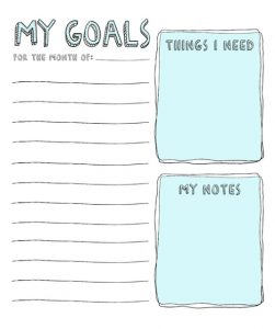 Back To School Goal Setting Worksheets