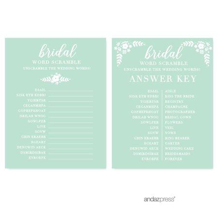 22 Lovely Bridal Shower Word Scrambles Kittybabylove Com