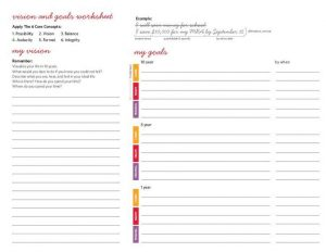 Career Goal Setting Worksheet