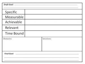 Children's Hockey Goal Setting Worksheet