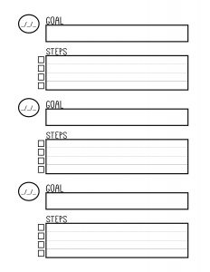 Christian Biblical Goal Setting Worksheet