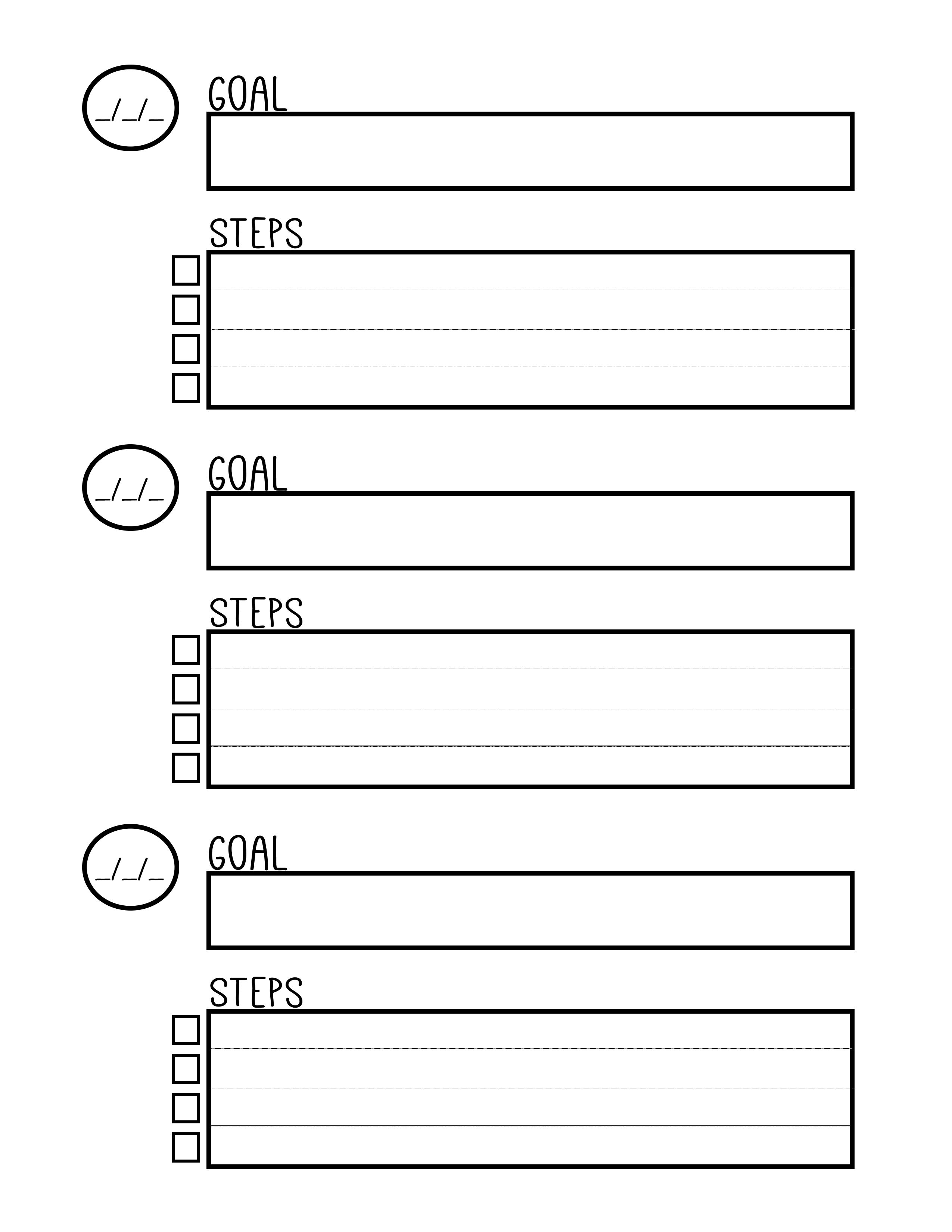 Ridiculous image intended for printable goal sheets pdf