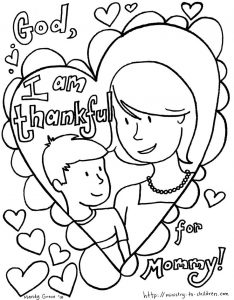 Christian Mother's Day Cards to Color