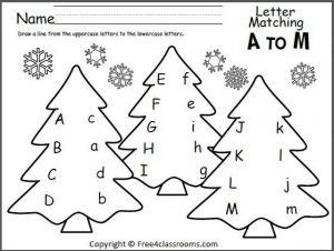 Christmas Letter Recognition Worksheets