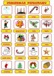 Christmas Pictionary Game Cards