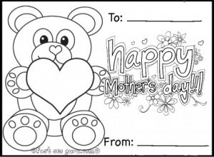Coloring Pictures for Mother's Day Cards