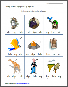 Dge Phonics Worksheets