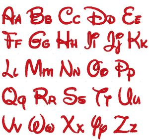 Disney Letter Stencils Mickey Mouse