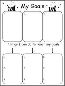 ESL Goal Setting Action Plan Worksheets