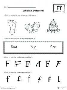 Ff Words Phonics Worksheets