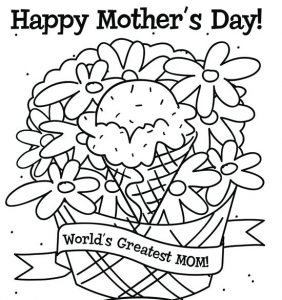 Free Coloring Pages Mother's Day Cards