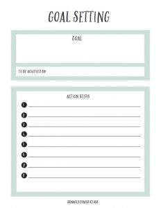 Free Goal Setting Worksheet