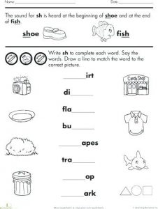 Free Phonics Worksheets for Kindergarten