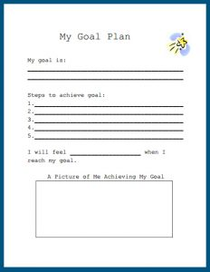 Free Printable Goal Setting Worksheet for Students