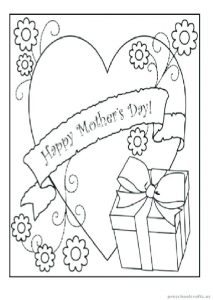 Free Printable Mother's Day Cards for Grandma to Color