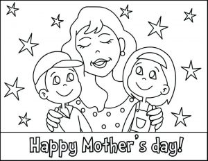 Free Printable Mother's Day Cards for Kids to Color