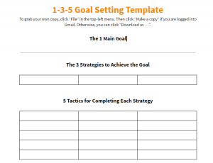 Free Real Estate Goal Setting Worksheet