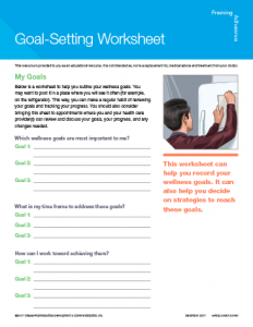 Goal Setting Outline Worksheet