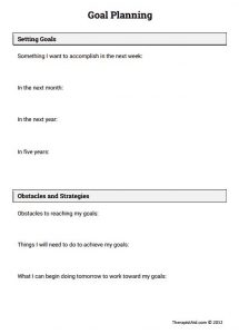 Goal Setting and Strategic Planning Worksheet