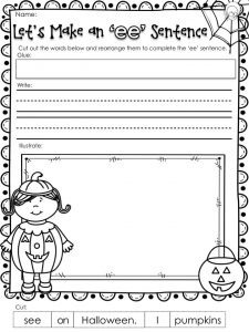 Halloween Phonics Worksheet